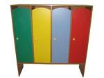 Цветной шкаф для детского сада