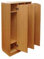 Шкаф для одежды для детского сада на 3 секции